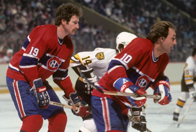 Hall of Famers Larry Robinson (left) and Guy Lafleur (right) are just two of the many legends on the '76-'77 Montreal Canadiens.    via cbssports.com