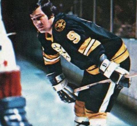 Bruins legend John Bucyk scored four goals to help Boston sweep the Dallas Stars to advance to the Quarterfinals.    via sportslogos.net