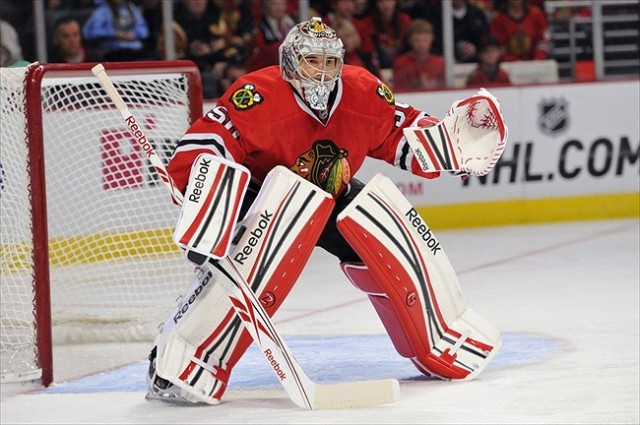 Goaltender Corey Crawford  did what no goaltender has ever done in NHL history, posted four consecutive shutouts.    via blackhawkup.com