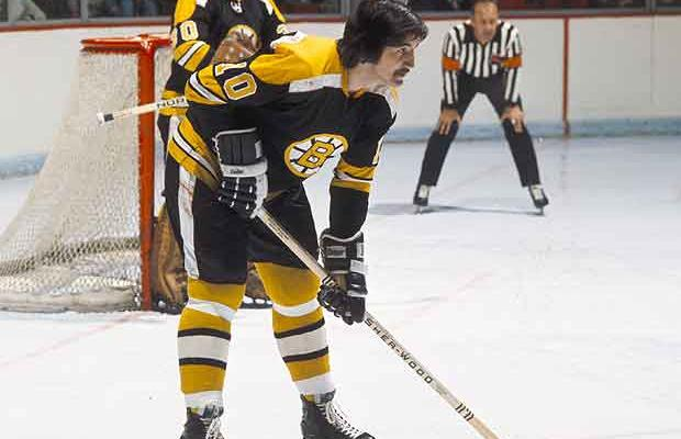 Boston Bruins defenseman Carol Vadnais. via crunchtimenews.com