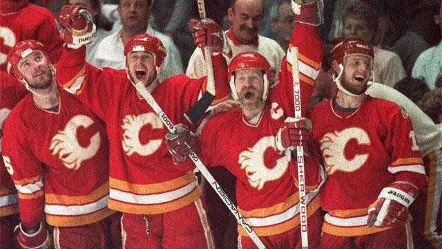 The 19th-seeded '88-'89 Calgary Flames have clinched a spot in the Ultimate NHL Final with their Game 7 OT winner from Hakan Loob.     via sportsnet.ca