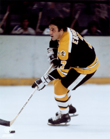Phil Esposito's seven goals paced the Bruins in their four game sweep of the powerhouse Oilers.   via distantreplay.org