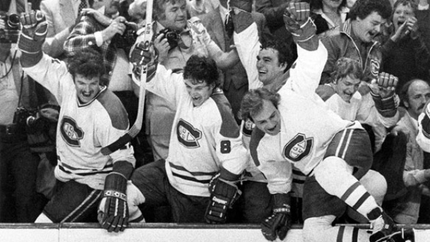 The top-seeded '76-'77 Montreal Canadiens have clinched a spot in the inaugural Ultimate NHL Final by defeating the '73-'74 Boston Bruins in five games.     via cbc.ca