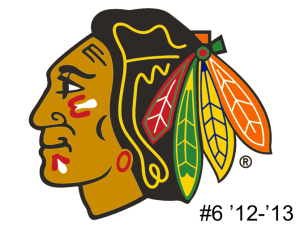 The 6th seed in the inaugural Ultimate NHL Playoff, the '12-'13 Chicago Blackhawks.