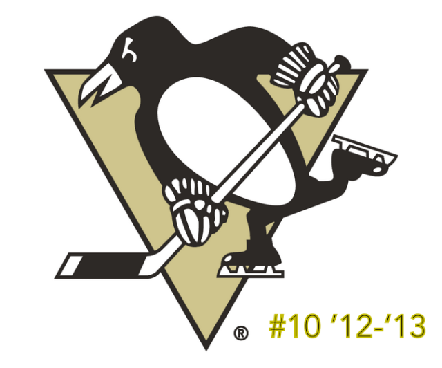 The #10 seed in the inaugural Ultimate NHL Playoff, the '12-'13 Pittsburgh Penguins.