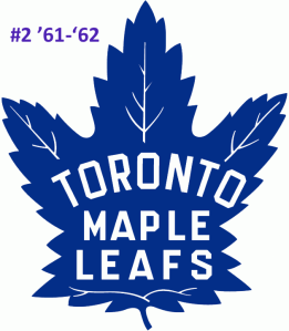 The #2 seed in the inaugural Ultimate NHL Playoff, the '61-'62 Toronto Maple Leafs.