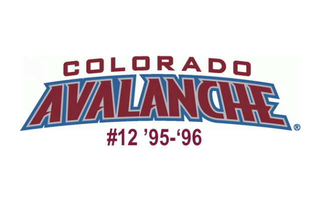 The 12th seed in the inaugural Ultimate NHL Playoff, the '95-'96 Colorado Avalanche.