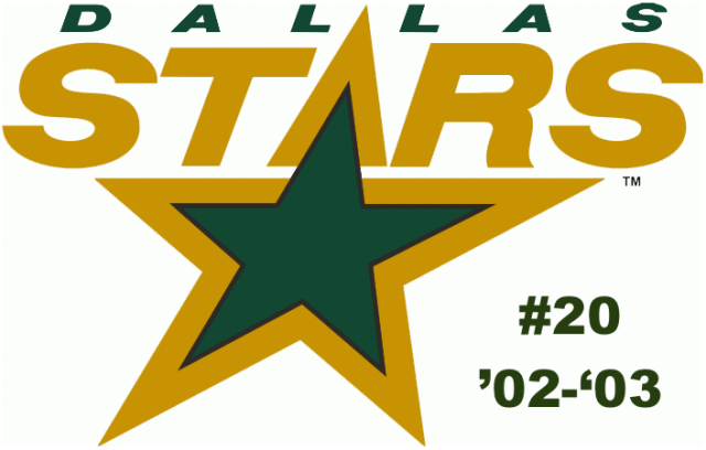 The #20 seed of the inaugural Ultimate NHL Playoff, the '02-'03 Dallas Stars.