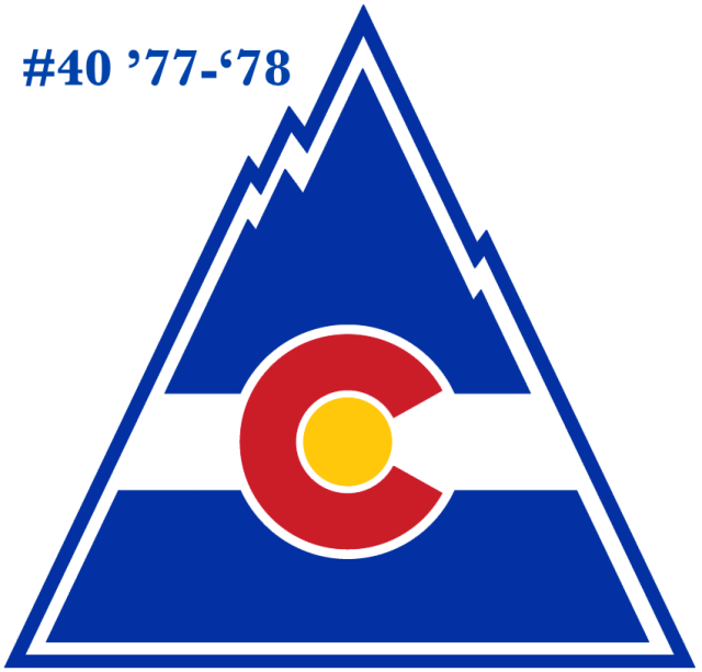 The #40 seed in the inaugural Ultimate NHL Playoff, the '77-'78 Colorado Rockies.
