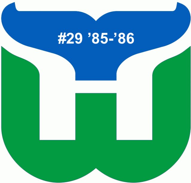 The #29 seed in the inaugural Ultimate NHL Playoff, the '85-'86 Hartford Whalers!