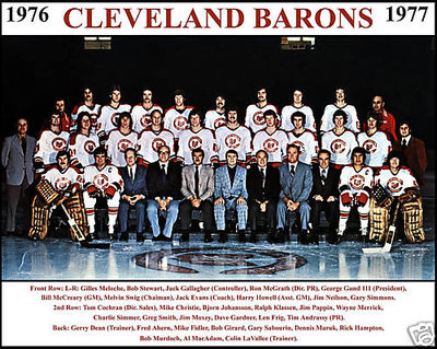 The '76-'77 Cleveland Barons team photo. via icehockey.wikia.com