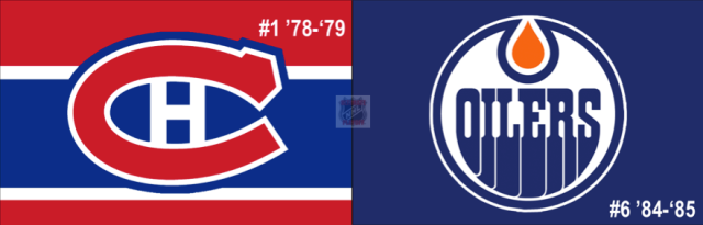2nd Annual Ultimate NHL Final between the top-seeded '78-'79 Canadiens and the 6th-seeded '84-'85 Oilers