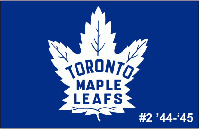 The 2nd-seeded '44-'45 Toronto Maple Leafs