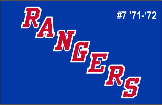 The 7th-seeded '71-'72 New York Rangers