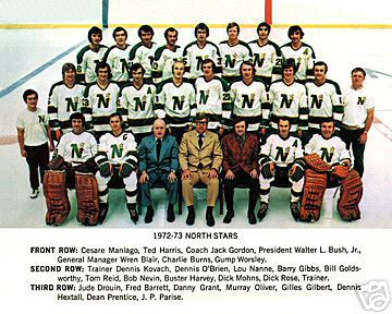 The '72-'73 Minnesota North Stars defeated both previous franchise UNP representatives before clinching their firs berth. (via icehockey.wikia.com)