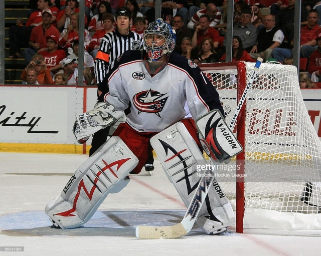 _____ Mason shut it down for the '08-'09 Columbus Blue Jackets as they clinched their first UNP berth. (via Getty Images/National Hockey League)