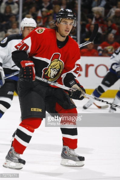 _______ Vermette's OT winner in Game 6 completes the three-peat for the '05-'06 Senators as they clinch another trip to the UNP. (via Phillip MacCallum/Getty Images)