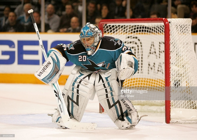 ______ Nabokov stepped up his play late in the series to lead the '09-'10 Sharks to their third UNP appearance. (via Ezra Shaw/Getty Images)