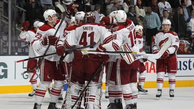 The '11-'12 Coyotes play a very team-oriented style and in this series, they wouldn't have moved on if it weren't for ____ Smith on the backend. (via Getty Images)