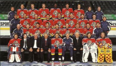 The '99-'00 Panthers set regular season franchise record for wins (43) and points (98). (via icehockey.wikia.com)